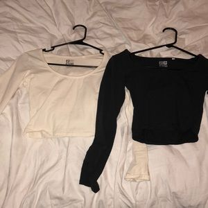 Long sleeve cropped tops